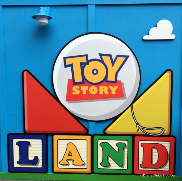 Toy Story Land construction wall