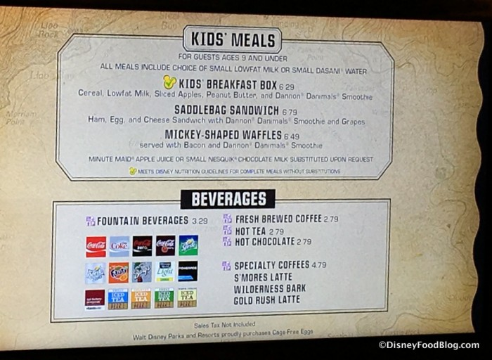 Kids' Breakfast Menu