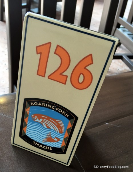Table Tent Number