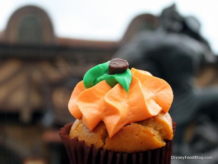 Gaston's Pumpkin Cupcake