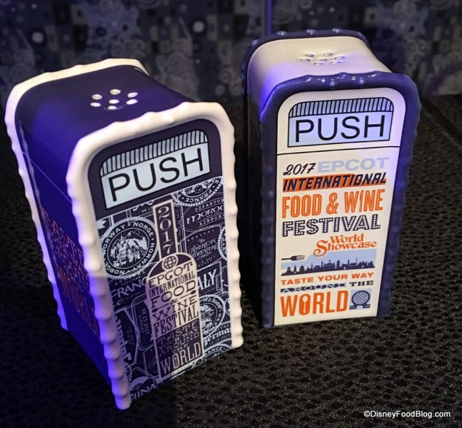 Food and Wine Festival Trash Can Salt and Pepper Shakers