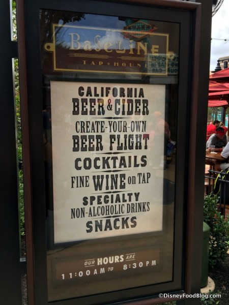BaseLine Tap House sign