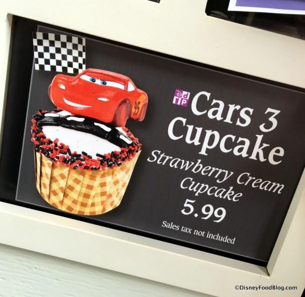 Cars 3 Cupcake sign