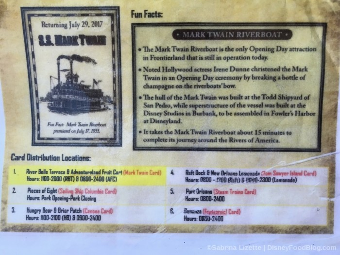 Disneyland Card Info