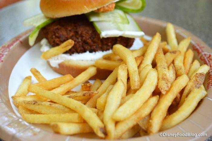 Falafel Burger with Fries