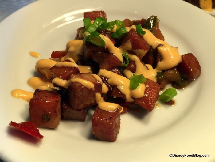 Hawaii Teriyaki glazed SPAM Hash 2017 Epcot Food and Wine Festival Media Preview (4)
