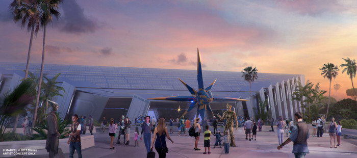 Guardians of the Galaxy attraction Concept Art ©Disney
