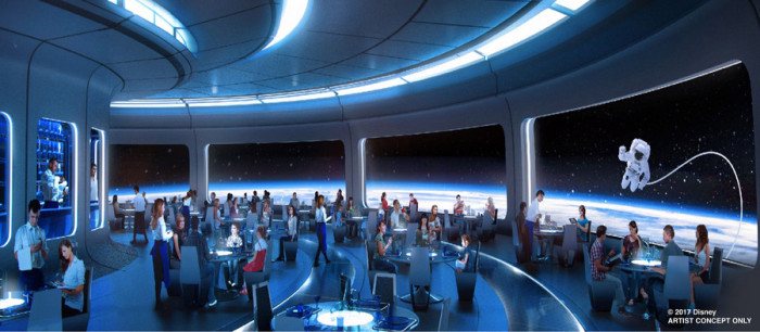 Space-themed Restaurant Concept Art ©Disney