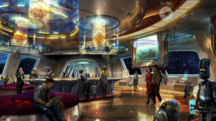 Star Wars-themed hotel artwork ©Disney