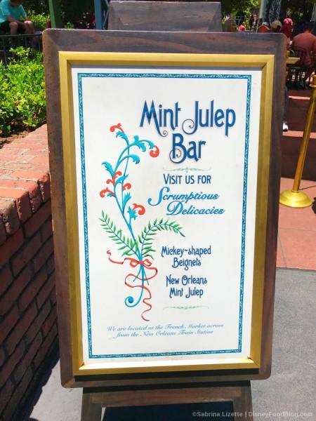Mint Julep Menu Board