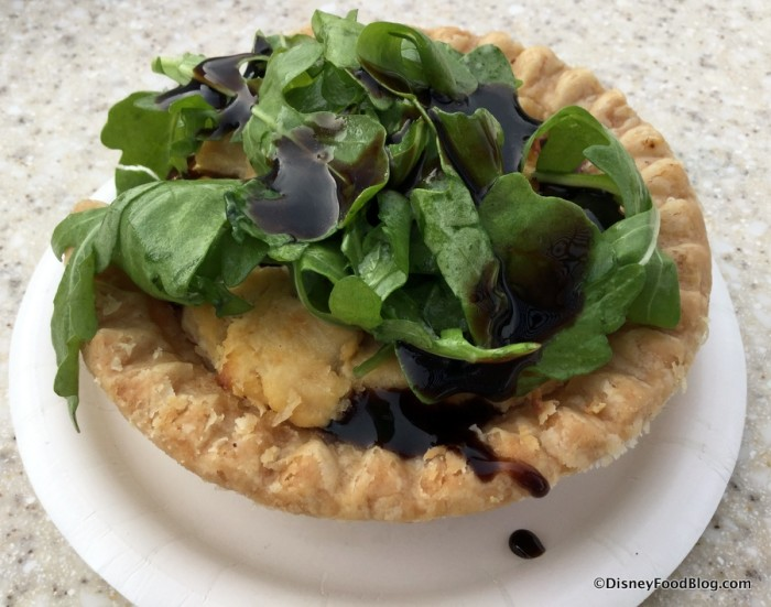 Savory Caramelized Onion Boursin Garlic and Fine Herbs Cheese Tart with Cold Arugula Salad and Aged Balsamic