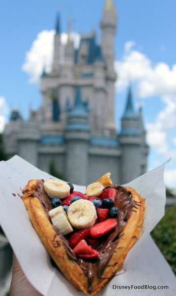 Nutella Waffle at Magic Kingdom's Sleepy Hollow