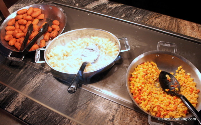 Kids Station: Corn Dog Nuggets, Mac and Cheese, and Corn