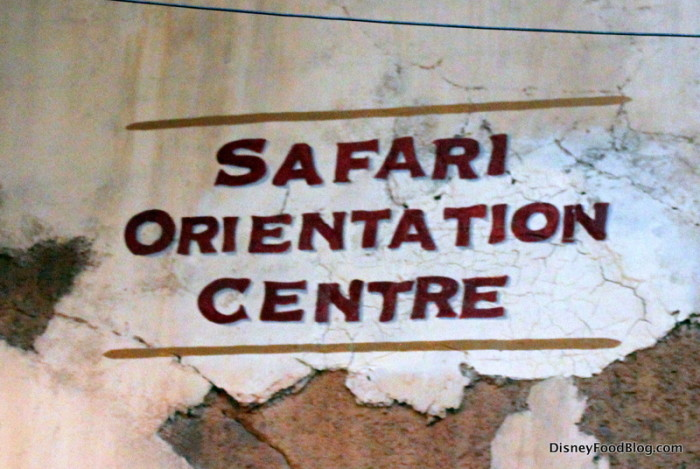 Safari Orientation Centre Sign
