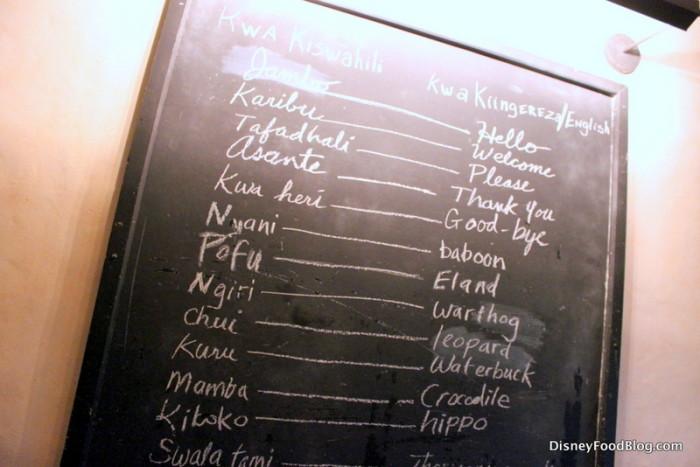 Swahili Words