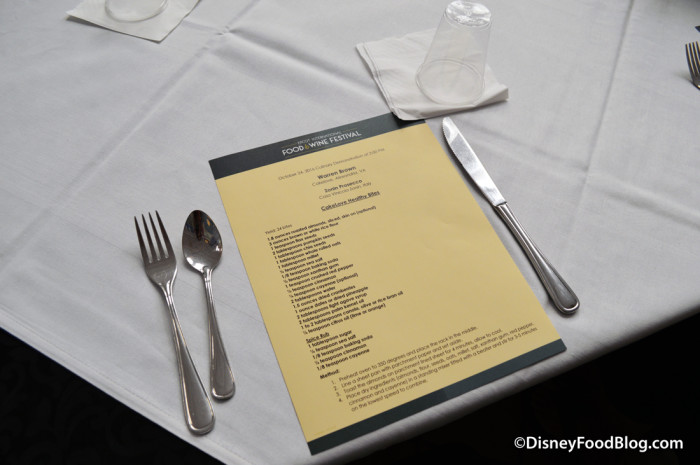 Place Setting with Recipe