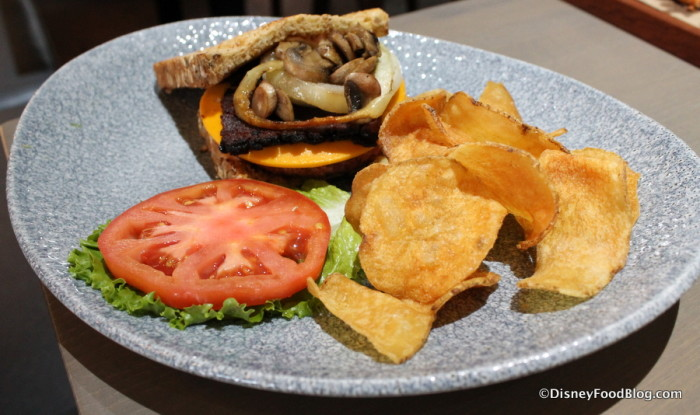 """Grilled Plant-based """"Bacon Cheeseburger"""" Meal"""