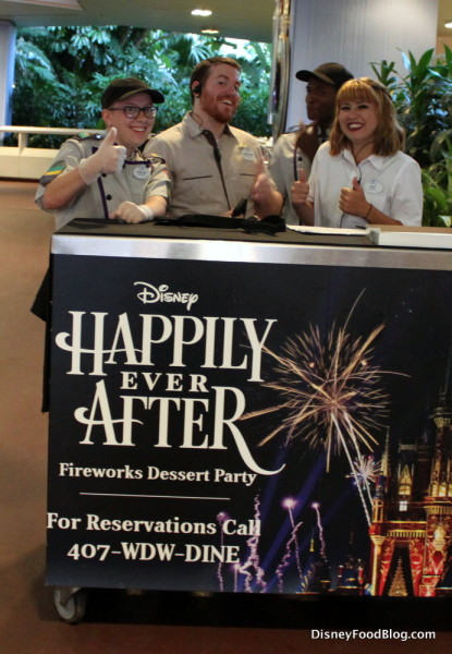 Tomorrowland Terrace Dessert Party Check In Desk