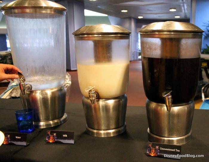 Water, Milk, and Unsweetened Tea