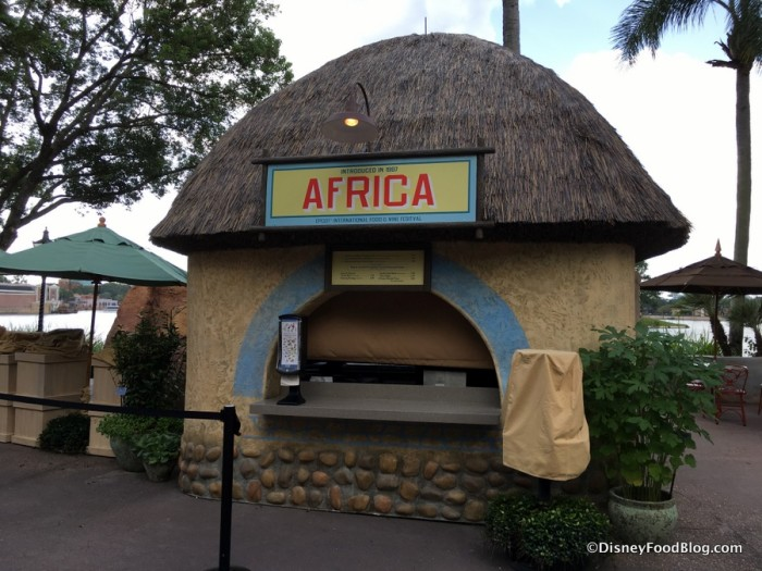 2017 Epcot Food and Wine Festival Africa Booth 1