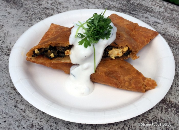 Spinach and Paneer Cheese Pocket