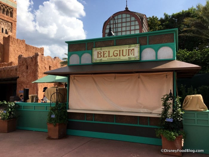2017 Epcot Food and Wine Festival Belgium Booth