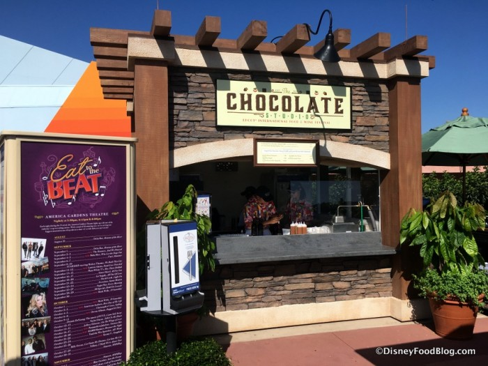 2017 Epcot Food and Wine Festival Chocolate Studio Booth