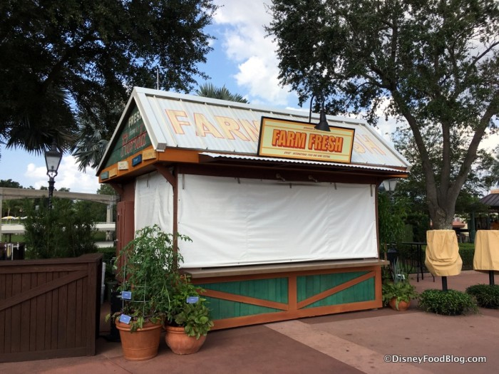 2017 Epcot Food and Wine Festival Farm Fresh Booth