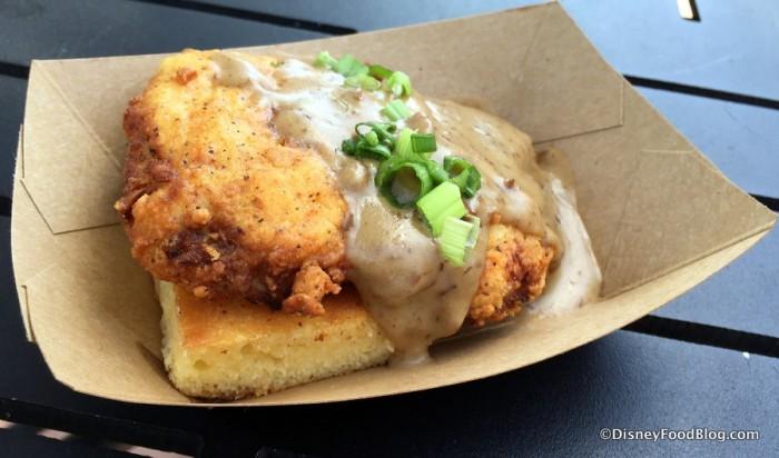 Crispy Chicken with Griddled Cornbread and Red Eye Gravy