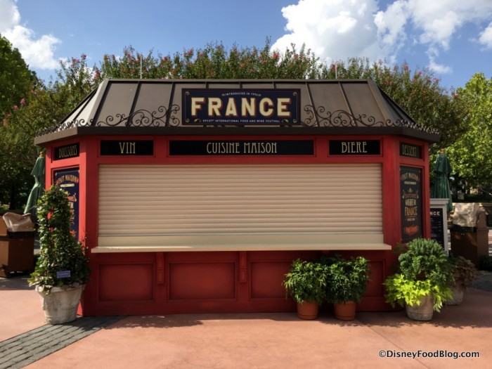 2017 Epcot Food and Wine Festival France Booth