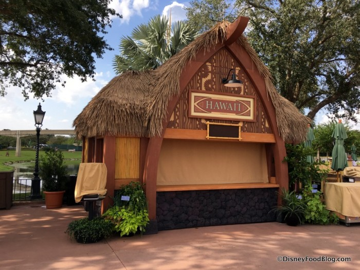 2017 Epcot Food and Wine Festival Hawaii Booth