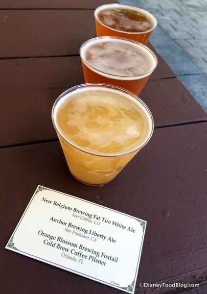 Beer Flight (in order front-to-back)