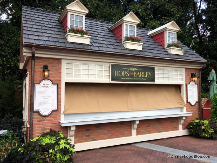 2017 Epcot Food and Wine Festival Hops and Barley Booth