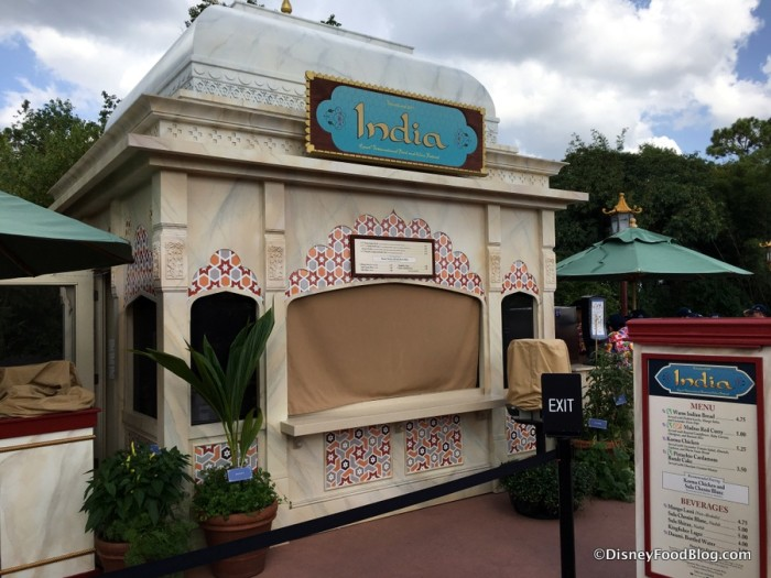 2017 Epcot Food and Wine Festival India Booth