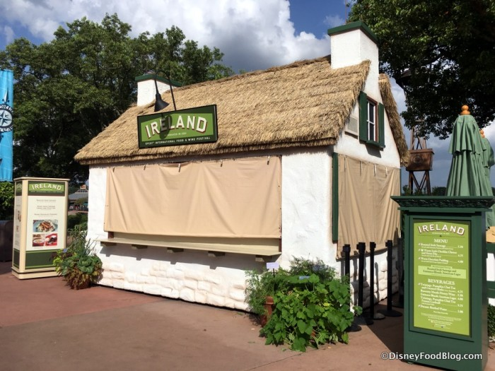 2017 Epcot Food and Wine Festival Ireland Booth