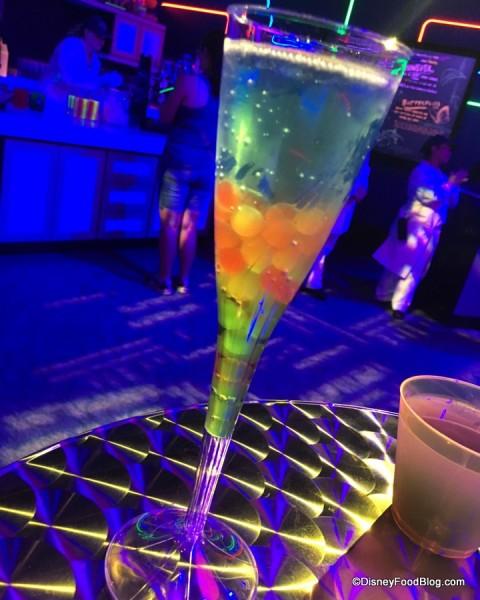 2017 Epcot Food and Wine Festival Light Lab Bleu Spectrum Blanc de Bleu Cuvee Mousseux with Boba Pearls