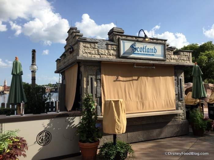 2017 Epcot Food and Wine Festival Scotland Booth