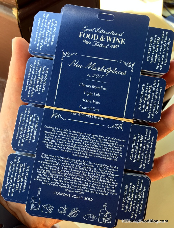 Disney Gift Card For Food And Wine Festival