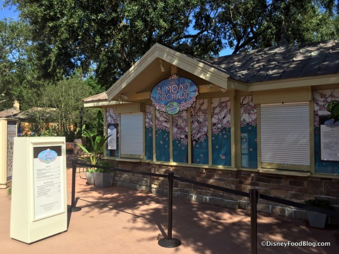 2017 Epcot Food and Wine Festival The Almond Orchard BOOTH