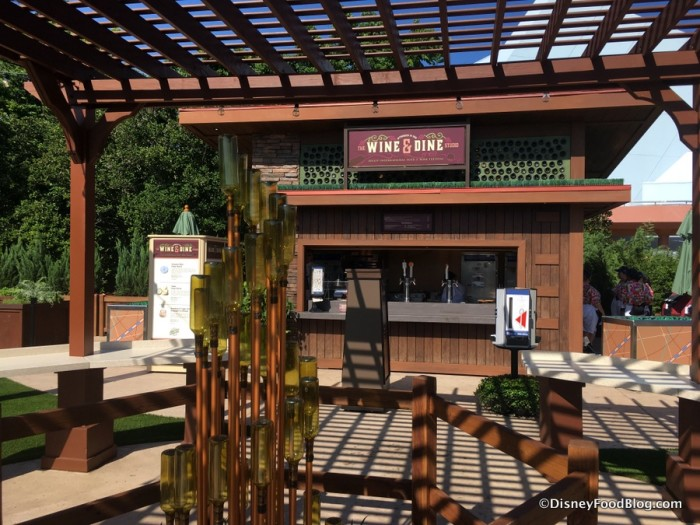 2017 Epcot Food and Wine Festival Wine and Dine Studio Booth