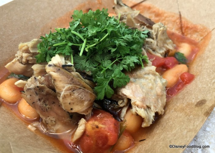 Pulled Duck Confit with Cannellini Bean Ragoût and Zinfandel Reduction