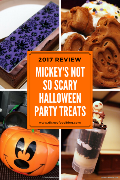 2017 Mickey's Not-So-Scary Halloween Party Treats