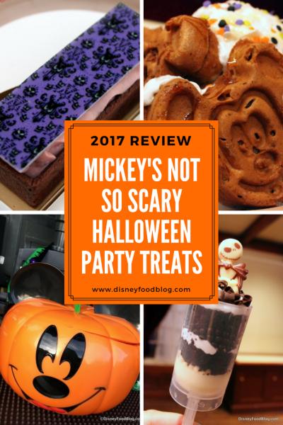 2017 mickeys not so scary halloween party treats
