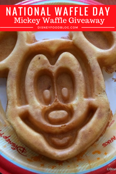 Celebrate National Waffle Day with a Mickey Waffle Giveaway!