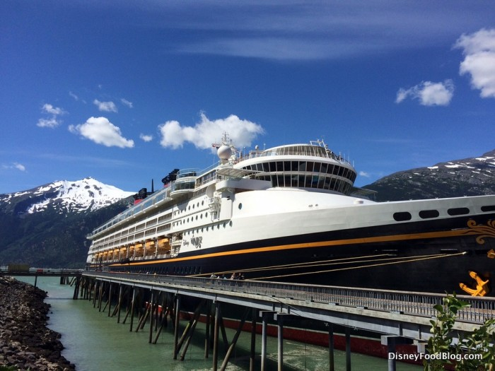 The Disney Wonder in Port at Skagway