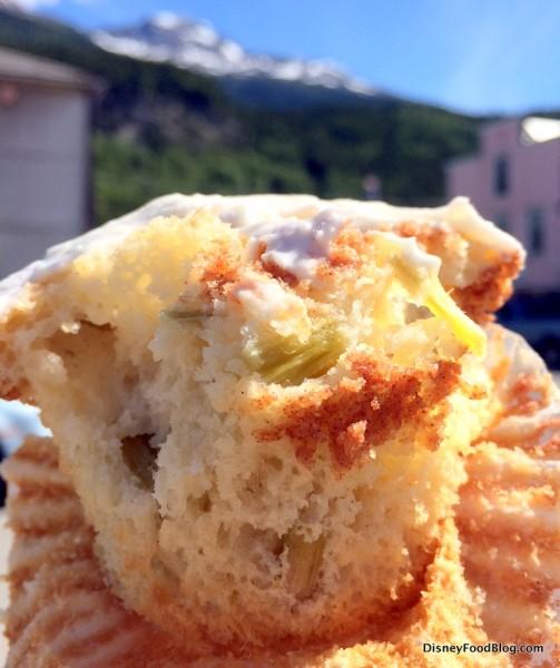 Rhubarb Cupcake -- Inside