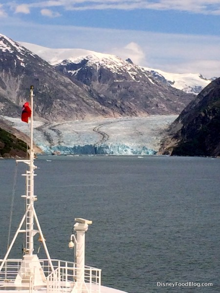 View of the Glacier from the Front of the Ship -- Endicott Arm