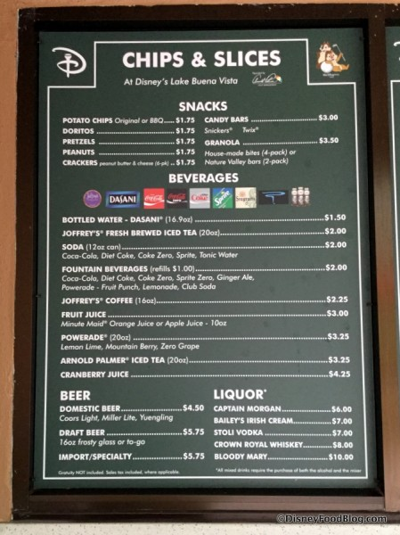 Chips & Slices Menu