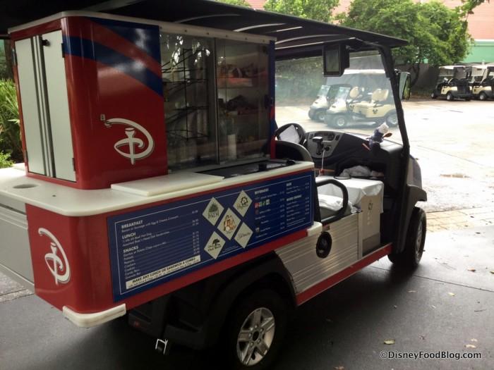 Mickey Refreshment Golf Cart