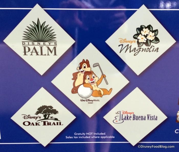 Disney Golf Course Logos